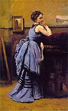 Jean Baptiste Corot Woman in Blue 1874