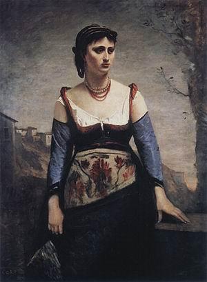 Jean Baptiste Corot Agostina 1866