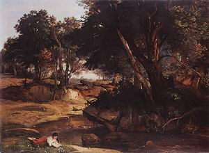 Jean Baptiste Corot The Forest of Fontainebleau 1830
