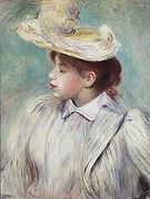 Pierre Auguste Renoir Girl with Straw Hat 1890