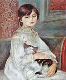 Pierre Auguste Renoir Julie Manet with Cat 1887
