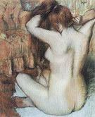 Edgar Degas Woman Combing Her Hair c1886