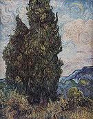 Vincent van Gogh Cypresses 1889