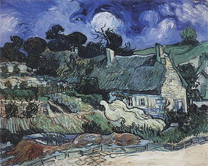 Vincent van Gogh Houses with Thatched Roofs Cordeville 1890