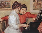 Pierre Auguste Renoir Yvonne and Christine Lerolle at the Piano 1897