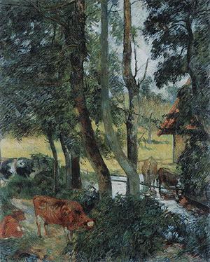 Paul Gauguin Cattle Drinking 1885