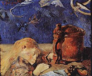 Paul Gauguin Clovis Sleeping 1884