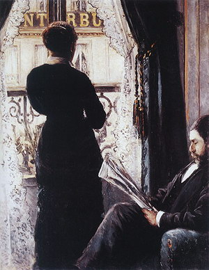Gustave Caillebotte Interior Woman at the Window 1880
