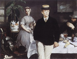 Edouard Manet Lunch in the Studio 1868