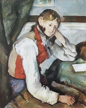 Paul Cezanne Boy in Red Vest 1890-95