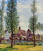 Alfred Sisley View of Moret-sur-Loing 1892