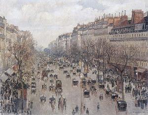 Camille Pissarro Boulevard Montmartre (Afternoon_Sun) 1897