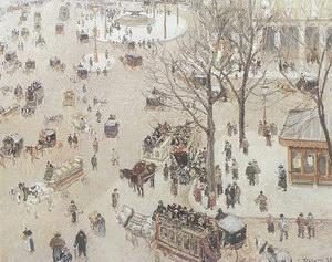Camille Pissarro Place du Theatre Francais 1898
