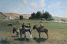 Camille Pissarro The Donkey Ride at La Roche Guyon 1864-5