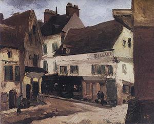 Camille Pissarro A Square at La Roche-Guyon 1867