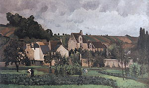 Camille Pissarro View of l'Hermitage at Pontoise 1867