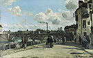 Camille Pissarro View of Pontoise Quai du Pothuis 1867