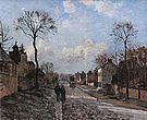 Camille Pissarro A Road in Louveciennes 1872