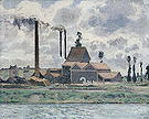Camille Pissarro Factory at Pontoise 1873