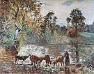 Camille Pissarro The Pond at Montfoucault 1875