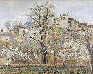 Camille Pissarro Kitchen Garden with Trees in Flower Spring Pontoise 1877