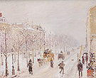 Camille Pissarro The Outer Boulevards Snow 1879