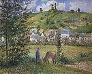 Camille Pissarro Landscape at Chaponval 1880