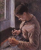 Camille Pissarro Breakfast Young Female Peasant taking her Coffee 1881