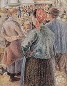 Camille Pissarro The Poultry Market Pontoise 1882