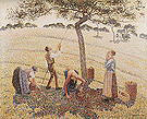 Camille Pissarro The Apple Pickers Eragny 1888