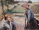 Camille Pissarro Two Female Peasants Chatting 1892