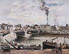 Camille Pissarro The Great Bridge Rouen 1896