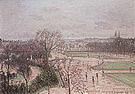 Camille Pissarro The Tuileries Gardens Paris Rain 1899