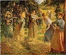 Camille Pissarro Harvest at Eragny 1901