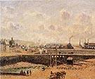 Camille Pissarro Dieppe Duquesne Basin Low Tide Sun Morning 1902