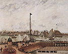 Camille Pissarro The Pilot's Jetty Le Havre Moning Grey Weather Misty 1903