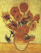 Vincent van Gogh Vase with Fifteen Sunflowers 1889