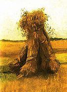 Vincent van Gogh Sheaves of Wheat 1885