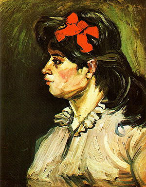 Vincent van Gogh Portrait of a Woman in Profile 1885