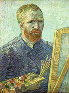 Vincent van Gogh Self-Portrait in front of an Easel 1888