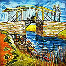 Vincent van Gogh The Drawbridge near Arles 1888