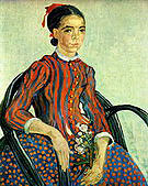 Vincent van Gogh Portrait of a Girl (La Mousme) 1888
