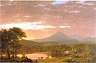 Hudson River School Frederic Edwin Church: Mount Ktaadn 1853