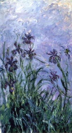 Claude Monet Les Iris Mauves 1873
