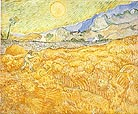 Vincent van Gogh Enclosed Field with Reaper at Sunrise 1889