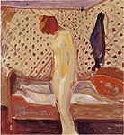 Edvard Munch Woman by the Bed 1909