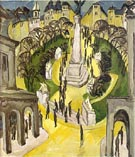 Ernst Ludwig Kirchner Belle-Alliance Square  in Berlin 1914