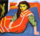 Ernst Ludwig Kirchner Seated Girl