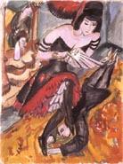 Ernst Ludwig Kirchner The Dancer's Revenge (Pantomime Reimann) 1912