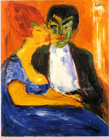 Emil Nolde In a Night Bar 1911